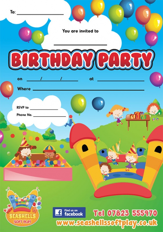 Seashells Birthday Party Invitations